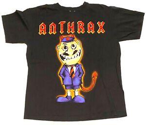 Anthrax - AC/DC Not Man Black Band Rock Heavy Metal Shirt - Size M