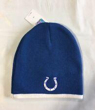 Indianapolis Colts Knit Beanie Winter Hat Toque Skull Cap sm logo white trim