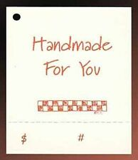 50 HANG TAGS HANDMADE CRAFTS PRICE PERFORATED COUNTRY