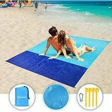"""Sand Free Beach Blanket, Oversized 82"""" X79"""" Waterproof Mat For 4-7 Persons, Heat"""