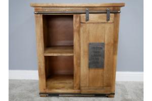 Industrial Mango Wood & Iron Solid Storage Cabinet - Cupboard Shelf Storage
