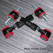 88-00 HONDA CIVIC CRX EF EG EK ADJUSTABLE REAR CAMBER ARM KIT BLACK RED BUSHING