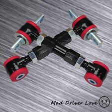 88-00 HONDA CIVIC CRX EF EG EK ADJUSTABLE REAR CAMBER ARM KIT BLACK RED BUSHING