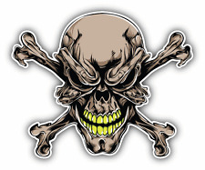 "Tattoo Skull Car Bumper Sticker Decal 5"" x 5"""