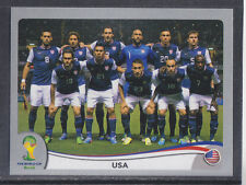 Panini-Brasil 2014 Copa del Mundo - # 546 Usa Team Group-Platinum