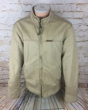 MENS ABERCROMBIE & FITCH BEIGE KHAKI WINTER COAT WOOL LINED JACKET LARGE