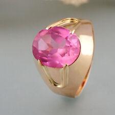 Ring mit synthetischen Spinell in 583/14k Roségold