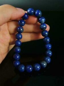 Old Chinese Lapis Lazuli Stone Made Bracelet Prayer Beads Precious