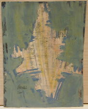 Peinture Gouache Originale ABSTRACTION Abstrait CHEVALIER 2000 JC5
