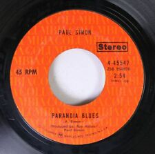 Rock 45 Paul Simon - Paranoia Blues / Mother And Child Reunion On Columbia 3