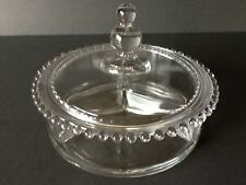 Elegant Glass Imperial Candlewick 400/110 Candy Box 3 Part