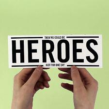 "DAVID BOWIE AUFKLEBER! "" Heroes "" Berlin Zeitraum,Brian Eno,Ziggy Stardust,Pop"