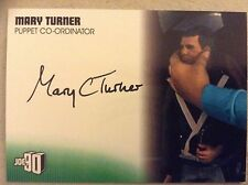 GERRY ANDERSON COLLECTION JOE 90: AUTOGRAPH CARD: MARY TURNER - PUPPET CO-ORD