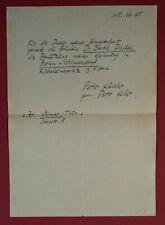 1945 BAUHAUS - Peter KELER - Autograph