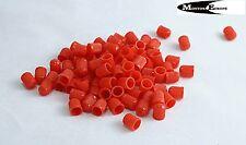 20 Plastic Tyre Valve Dust Caps RED