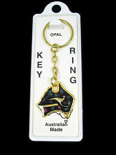 Australian Souvenir Australia Map Qantas Kangaroo Gold Plated Opal Keyring