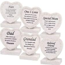Memorial Plaque - Stone Look Resin Gravemarker Cremation Burial Tribute Keepsake