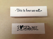 Mounted Rubber Stamps Set, Camping Stamps, Camping Sayings, RV Stamps, Travel