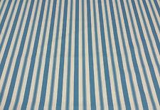 "BRAEMORE LEDAH STRIPE TURQUOISE BLUE FURNITURE FABRIC BY THE YARD 54""W"