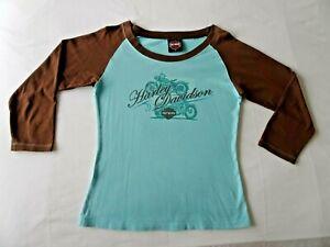 LADIES GENUINE HARLEY DAVIDSON T-SHIRT TOP SIZE 8/10 SMALL