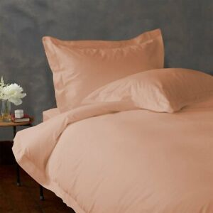 Peach Solid King Size 4 Piece Sheet Set 1000 Thread Count 100% Egyptian Cotton