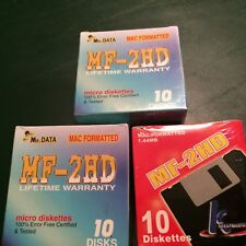 30 KHYPERMEDIA MF-2HD MAC FORMATTED 1.44MB 3.5 FLOPPY DISKS 3 Boxes of 10