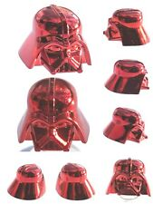 LEGO DARTH VADER HELMET CHROME RED GENUINE CUSTOM HIGHEST QUALITY MONOCHROME