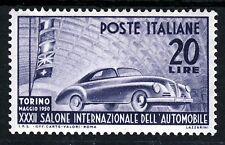 ITALIA 1950 TORINO 32nd. automobile ESPOSIZIONE 20 LIRE Grigio-Violetto SG 743 Nuovo di zecca