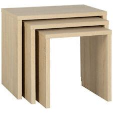 Sonoma Oak Effect Veneer Nest of 3 Piece Coffee End Lamp Side Table Set