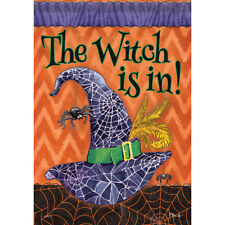 """New listing The Witch Is In House Flag 28"""" x 40"""" Double sided New for 2017 by Carson"""