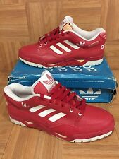 Vintage🔥 Adidas Phantom II Low Red Leather VTG Basketball Sneakers Sz 13 Men's