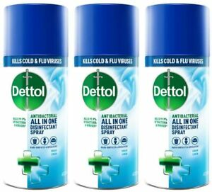 Dettol Antibacterial Disinfectant Spray 400ml Crisp Linen Pack of 3
