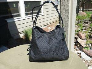 Coach Logo Madison Phoebe Shoulder Bag Op Art Fabric & Leather J1371-27843 $278r