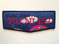 KU NI EH OA LODGE 145 SCOUT SERVICE PATCH FLAP NOAC 2004 DELEGATE BLUE