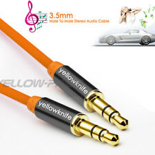 3FT Zinc OFC 3.5mm Stereo plug male to male Gold Audio IPOD AUX MP3 Cable Cord
