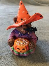 Ceramic Bear Holding A Pumpkin