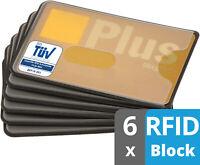 6x Rfid Block NFC Schutzhülle EC Karte abgeschirmt TÜV Kreditkarte Datenschutz
