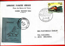 TIMBRES DE  GREVE ROANNE 1988 SUR LETTRE POUR L' ITALIE