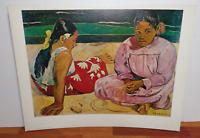 vintage PAUL GAUGUIN poster print - WOMEN OF TAHITI - SHOREWOOD REPRODUCTIONS