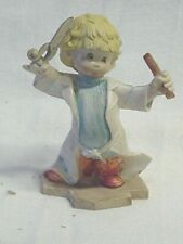 "Fontanini Figurine ""The Haircutter"" Little Boy -Italy-New"