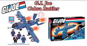 GI Joe Cobra Rattler 244 Piece Building Set Compatible with Popular Brick Brands
