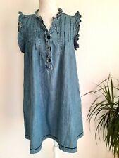 Robe Légère Bleu Style Jean 46 T3 Comme Neuve JACQUELINE RIU