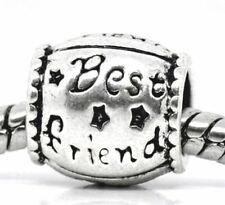 Best Friend Barrel Spacer Gift Bead for Silver European Style Charm Bracelets