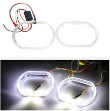 3'' Car Square White LED Angel Eyes Halo Day Running DRL Lights for Headlight