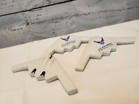 "LOT/3 U.S. Air Force B2 BOMBER PLANE Soft Foam Stress Ball Toy 5"" White Blue"