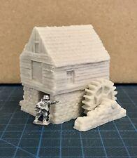 15mm / 10mm Wargame building. Water Mill - Wargame Scenery. Terrain