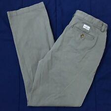 Vineyard Vines Gray Flat Front Chino Pants Mens Size 34x32