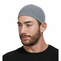 Stretchy Zigzag Knit Cotton Kufi Beanie Hat