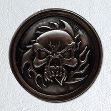 "1 1/4""  Ghost Rider Screwback Concho-Antique Nickel Finish"