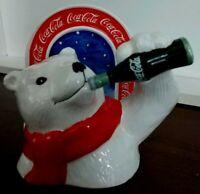 Coca-Cola Polar Bear drinking a bottle of Coke - Cola china napkin holder